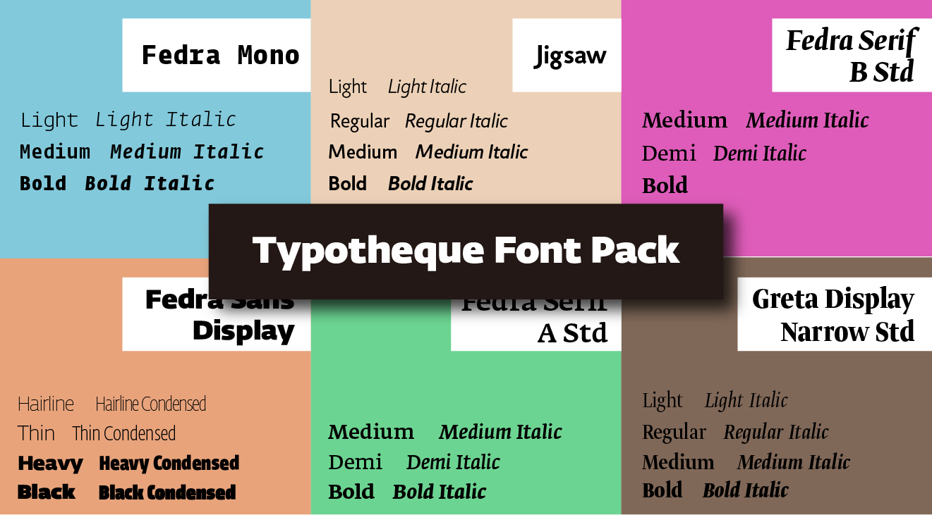 Typotheque Font PackTypotheque Font Pack